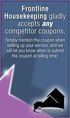 Frontline Housekeeping Plus Accepts all Competitors Coupons